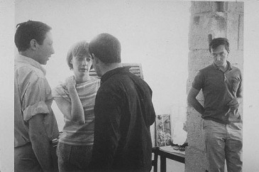 Jasper Johns and Robert Rauschenberg shortly before their breakup.